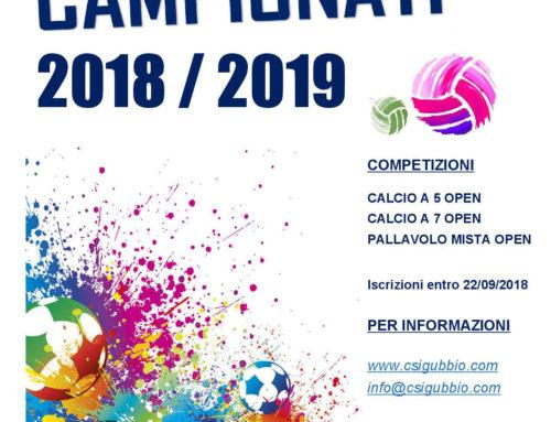CAMPIONATI OPEN 2018/2019